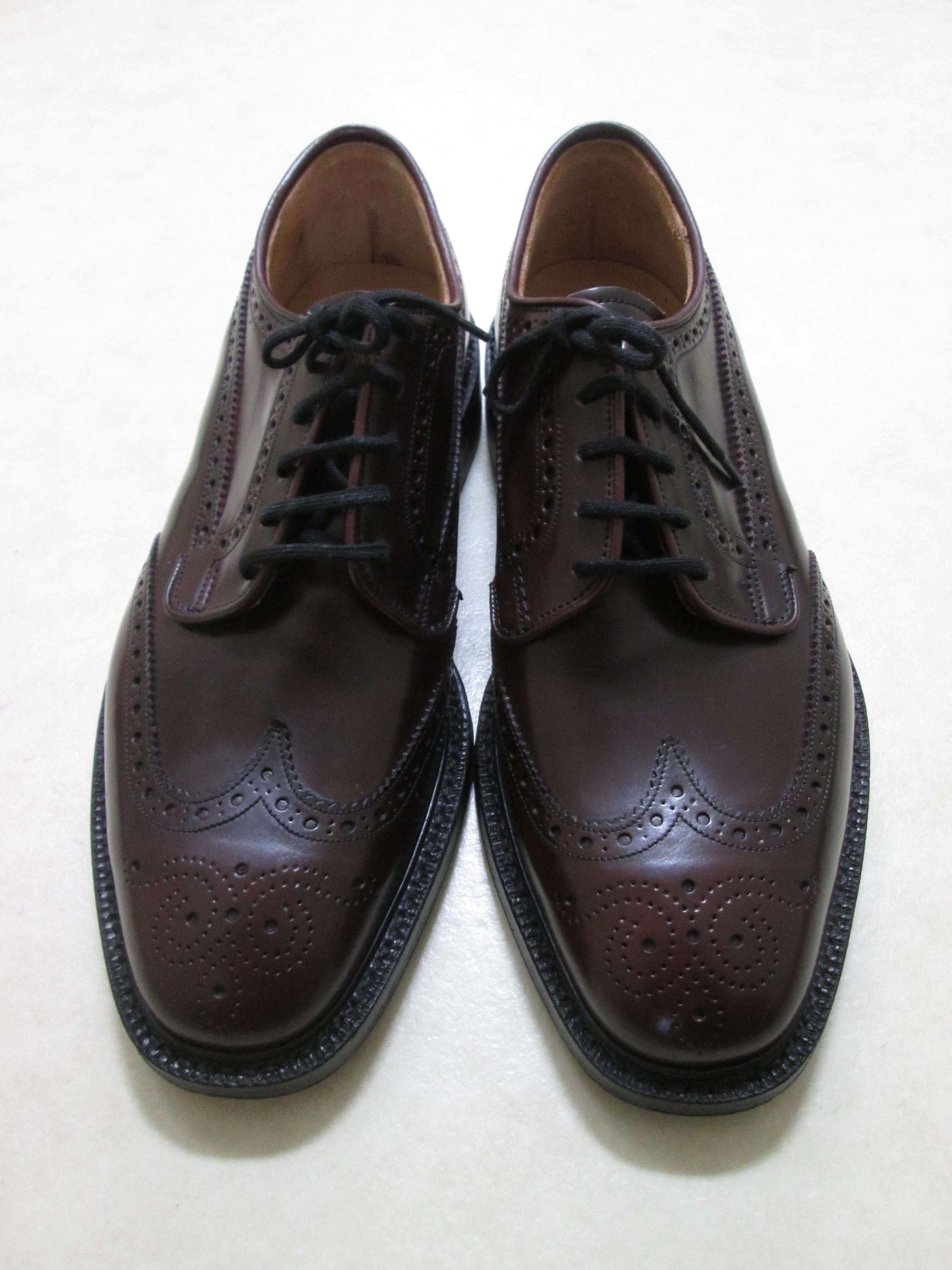 コードバンの靴と革小物について